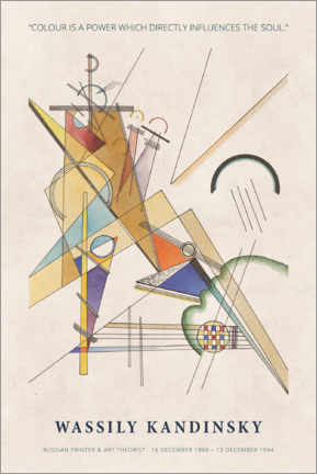 Print på træ  Wassily Kandinsky - Colour is a power - Museum Art Edition