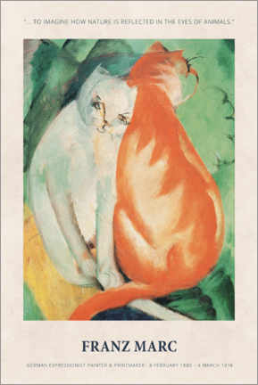 Premium-plakat  Franz Marc - In the eyes of animals - Museum Art Edition