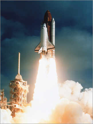 Premium-plakat Launch of shuttle STS-31, carrying space telescope