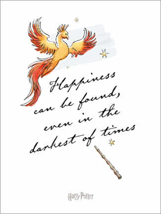 Premium-plakat Happiness can be found - Harry Potter Quote