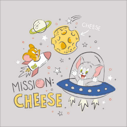 Akrylbillede  Tom & Jerry - Mission Cheese