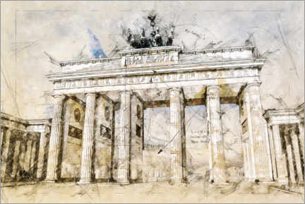 Premium-plakat  The Brandenburg Gate in Berlin - Peter Roder