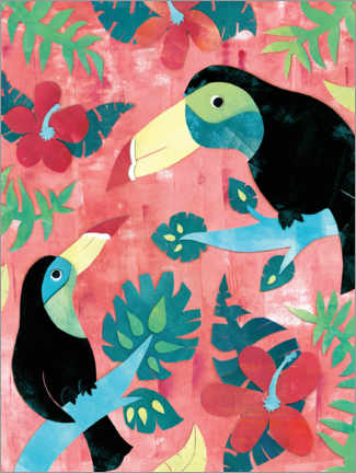 Premium-plakat Two toucans