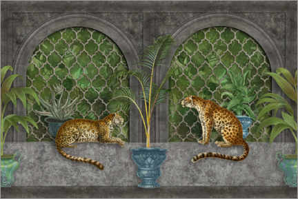 Lærredsbillede  Cheetahs in the jungle palace - Andrea Haase