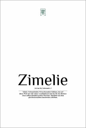 Premium-plakat  Beautiful words - Zimelie (German) - Sprachschatztruhe