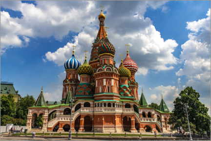 Lærredsbillede  St. Basil's Cathedral in Moscow II - HADYPHOTO
