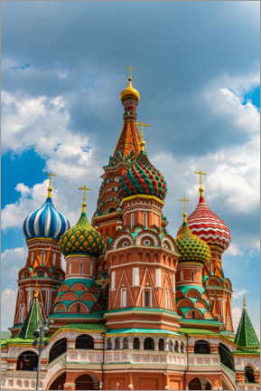 Lærredsbillede  St. Basil's Cathedral in Moscow 1 - HADYPHOTO
