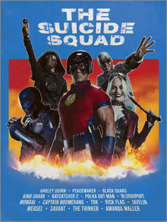 Akrylbillede  The Suicide Squad Movie Art