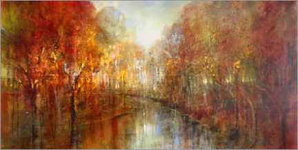 Print på træ  And the forests will echo with laughter - Annette Schmucker