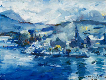 Akrylbillede  Lake of Lucerne - Lovis Corinth