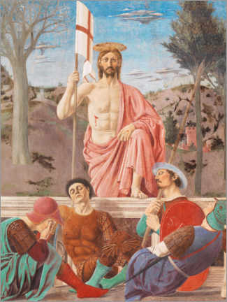 Lærredsbillede  Resurrection of Christ - Piero della Francesca