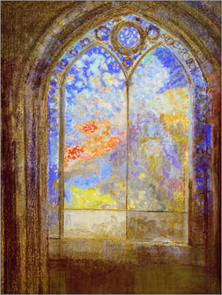 Akrylbillede  Church window - Odilon Redon