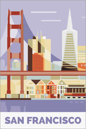 Premium-plakat golden gate bridge