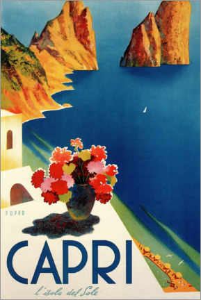 Lærredsbillede  Capri, l'isola del Sole - Travel Collection