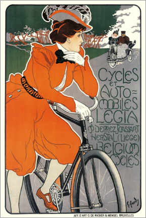 Galleritryk  Bicycles and automobiles - Georges Gaudy