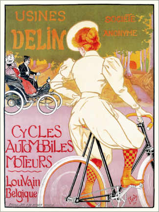 Premium-plakat  Bicycles, cars and engines, Belgium - Georges Gaudy