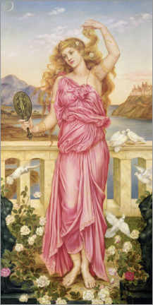 Lærredsbillede  Helena of Troy - Evelyn De Morgan
