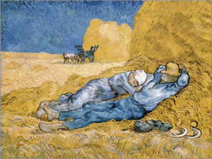 Lærredsbillede  The siesta (after Millet) - Vincent van Gogh