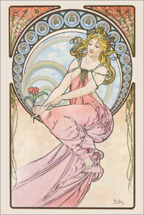Akrylbillede  The Arts - Painting - Alfons Mucha