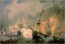Lærredsbillede  The Battle of Navarino - Ivan Konstantinovich Aivazovsky