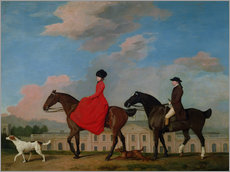 Galleritryk  John and Sophia Musters riding at Colwick Hall - George Stubbs