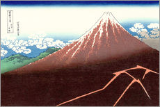 Galleritryk  Thunderstorm beneath the summit - Katsushika Hokusai