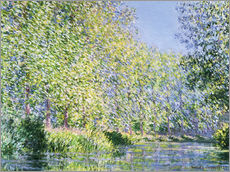Selvklæbende plakat  Bend in the Epte River near Giverny - Claude Monet