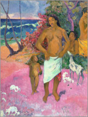 Galleritryk  A Walk by the Sea - Paul Gauguin