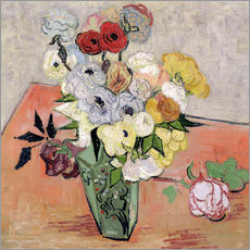 Galleritryk  Roses and Anemones - Vincent van Gogh