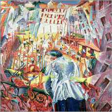 Galleritryk  The Street Enters the House - Umberto Boccioni