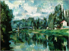 Selvklæbende plakat  The Banks of the Marne at Creteil - Paul Cézanne