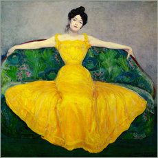 Galleritryk  Lady in yellow dress - Maximilian Kurzweil