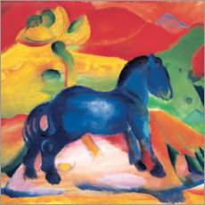 Print på træ  Little Blue Horse - Franz Marc