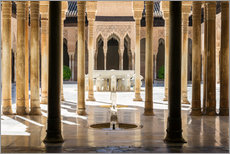 Galleritryk  Court of the Lions, Alhambra palace, Granada, Spain - Matteo Colombo