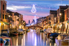 Galleritryk  Canal in Venice at Christmas - Matteo Colombo