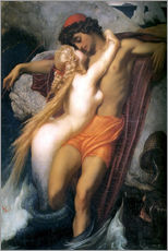 Galleritryk  The Fisherman and the Syren - Frederic Leighton