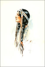 Galleritryk  Red Indian squaw - Harrison Fisher