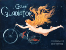 Selvklæbende plakat  Cycles Gladiator - Georges Massias