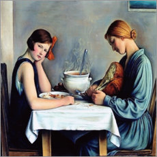 Lærredsbillede  The tailor soup - François Barraud