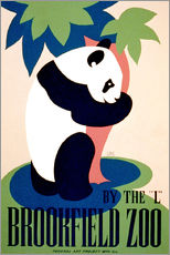 Selvklæbende plakat  Brookfield Zoo - Advertising Collection