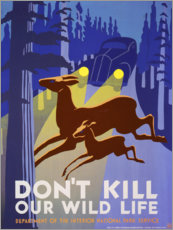 Akrylbillede  Do not kill our wildlife - Advertising Collection