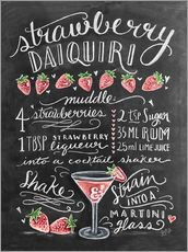 Galleritryk  Strawberry Daiquiri opskrift (engelsk) - Lily & Val