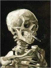 Galleritryk  Skull of a Skeleton with Burning Cigarette - Vincent van Gogh