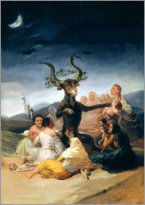 Galleritryk  Witches' Sabbath - Francisco José de Goya
