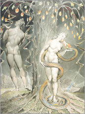 Galleritryk  Adam and Eve - William Blake
