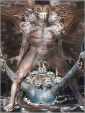 Galleritryk  the great red dragon and the beast from the sea - William Blake