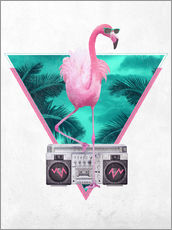 Galleritryk  Miami Flamingo - Robert Farkas
