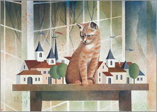 Galleritryk  View of the cat - Franz Heigl