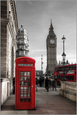 Galleritryk  Telefonboks og Big Ben i London - Filtergrafia