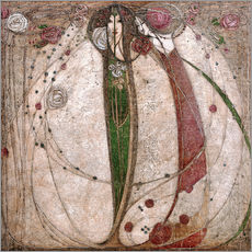 Galleritryk  The White Rose And The Red Rose - Margaret MacDonald Mackintosh